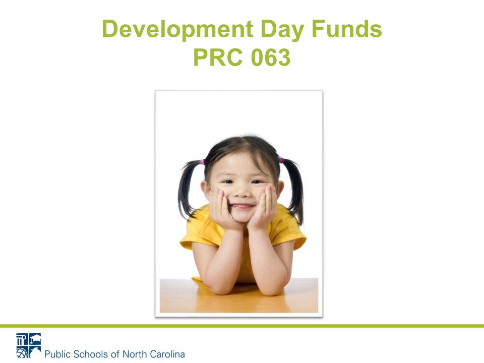 Development Day Funds PRC 063