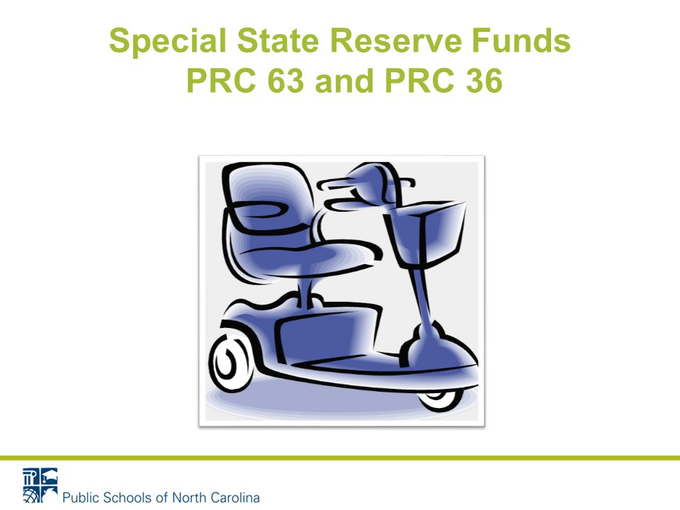 Special State Reserve Funds PRC 63 and PRC 36