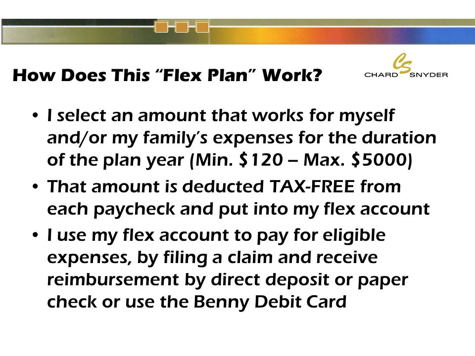 How Does This Flex Plan Work.