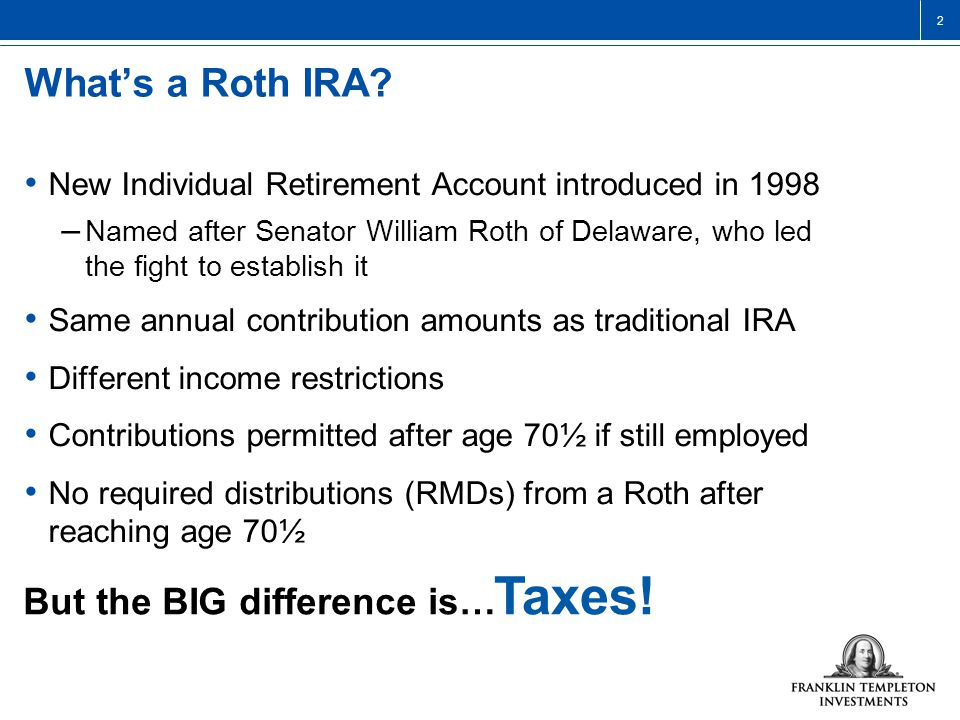 2 What's a Roth IRA.