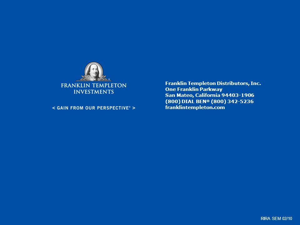 Franklin Templeton Distributors, Inc. One Franklin Parkway San Mateo, California 94403-1906 (800) DIAL BEN ® (800) 342-5236 franklintempleton.com RIRA