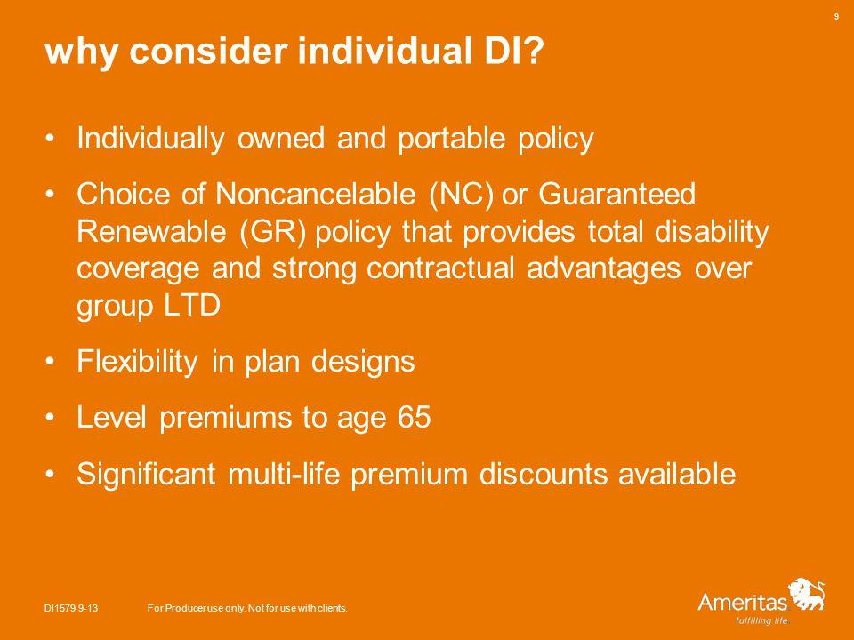 why consider individual DI.