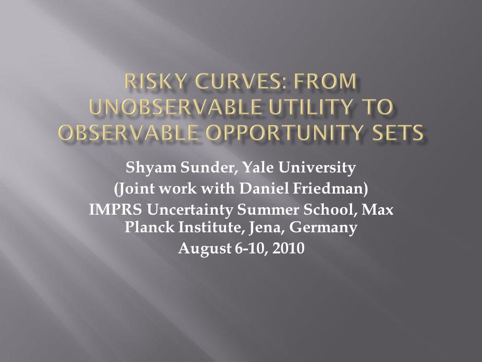 Risky Curves42 Shyam.sunder@yale.edu www.som.yale.edu/faculty/sunder/re search