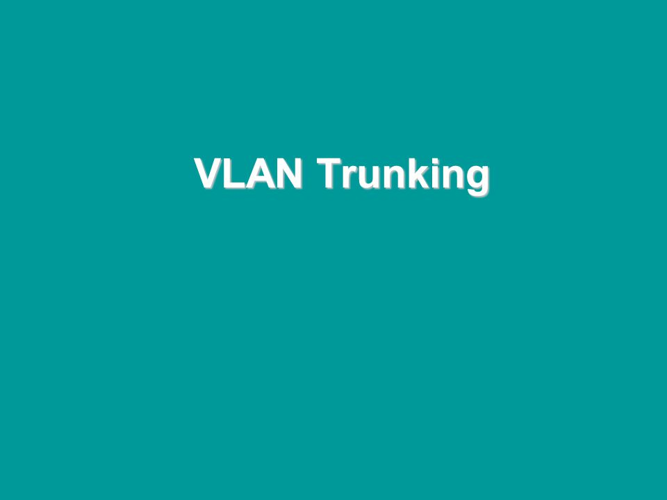 @ONE Spring Hands-On Institute 2-118 VLAN Trunking