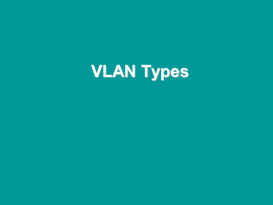 @ONE Spring Hands-On Institute 2-81 VLAN Types