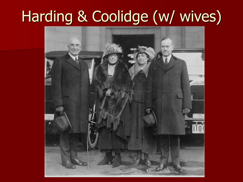Harding & Coolidge (w/ wives)
