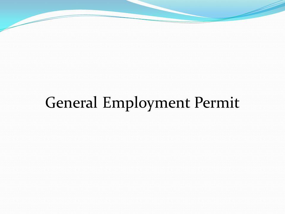General Employment Permit