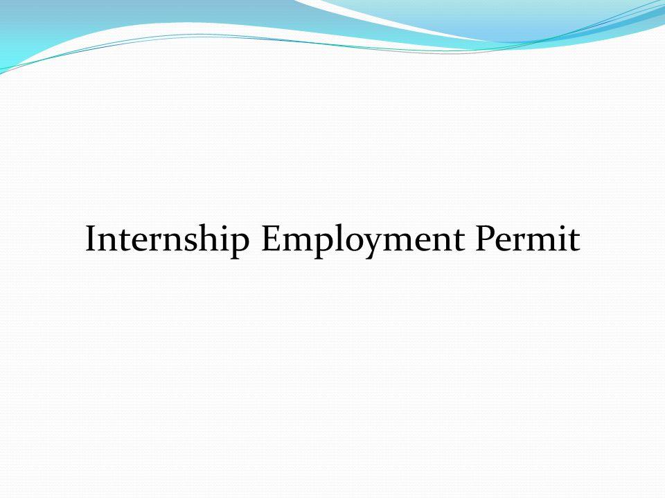Internship Employment Permit
