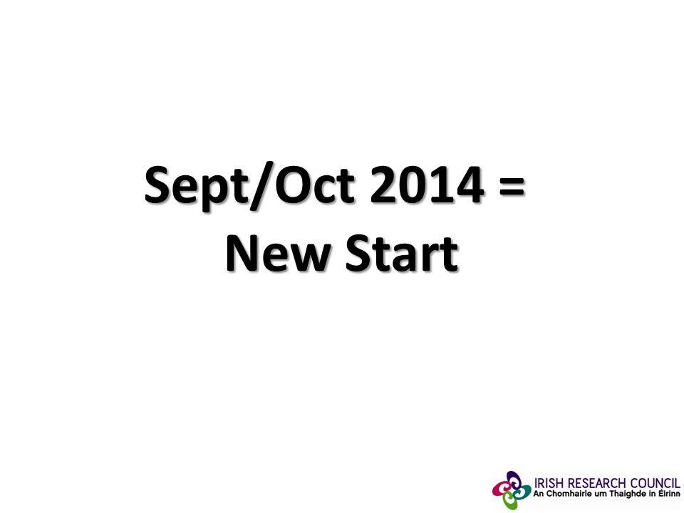 Sept/Oct 2014 = New Start