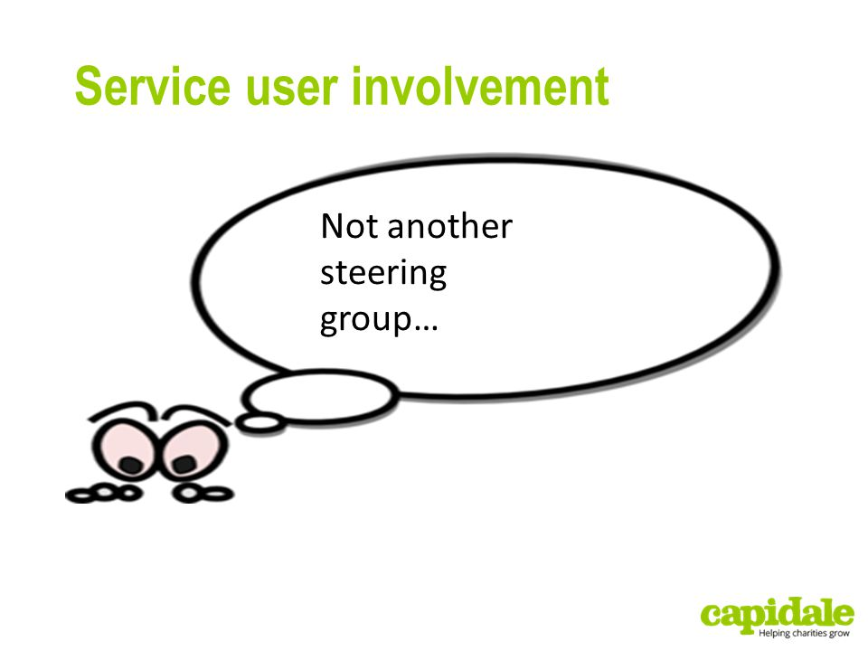 Service user involvement Not another steering group…