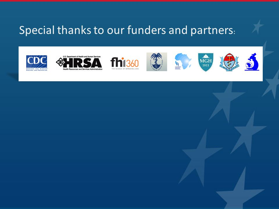 Special thanks to our funders and partners :