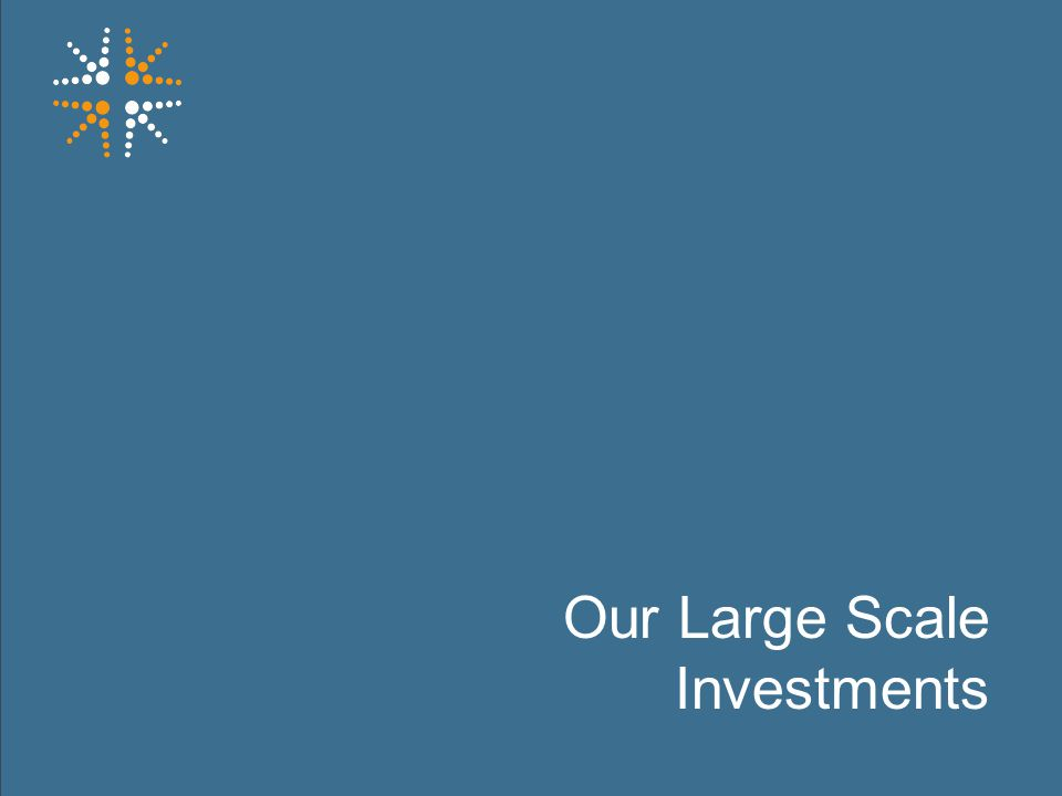 23 Our Large Scale Investments