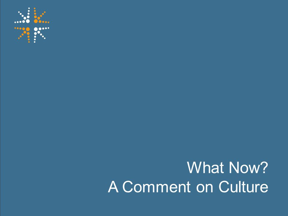 30 What Now? A Comment on Culture