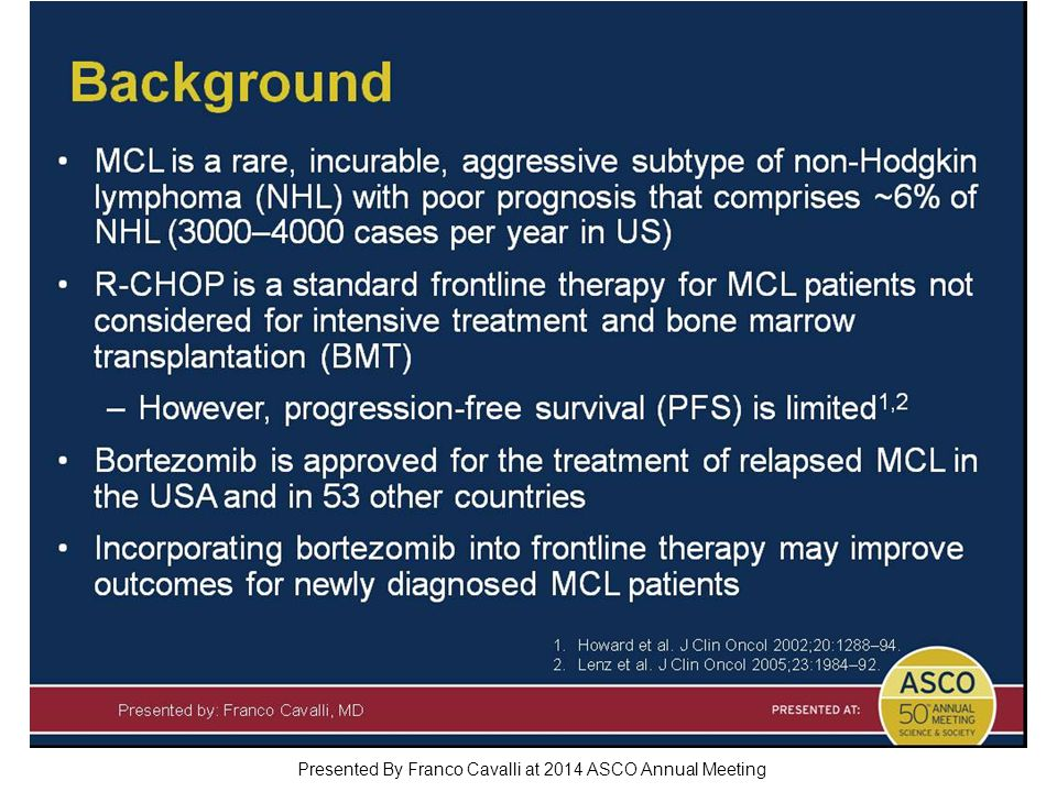 Background Presented By Franco Cavalli at 2014 ASCO Annual Meeting