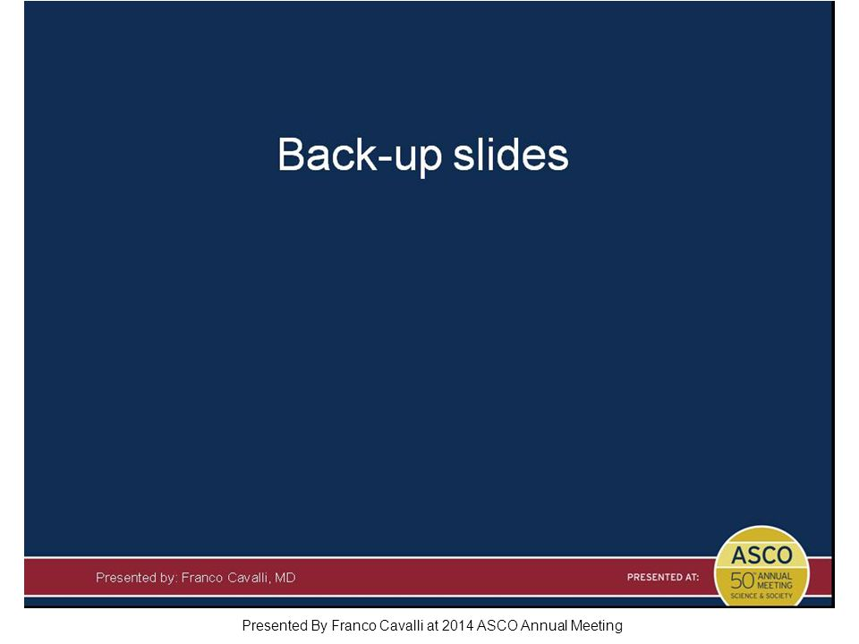 Slide 21 Presented By Franco Cavalli at 2014 ASCO Annual Meeting