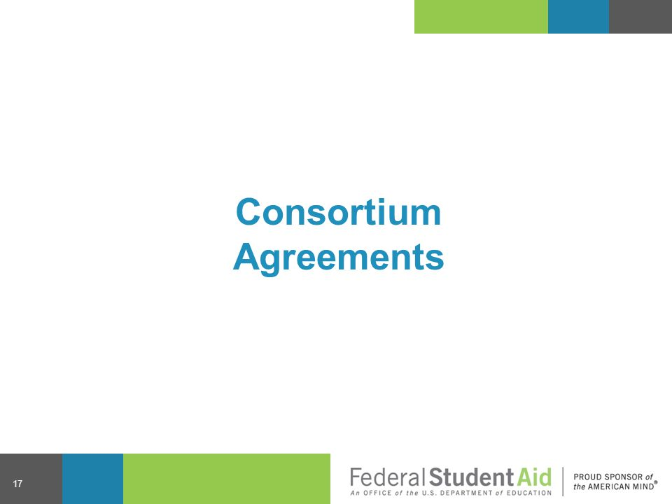 Consortium Agreements 17