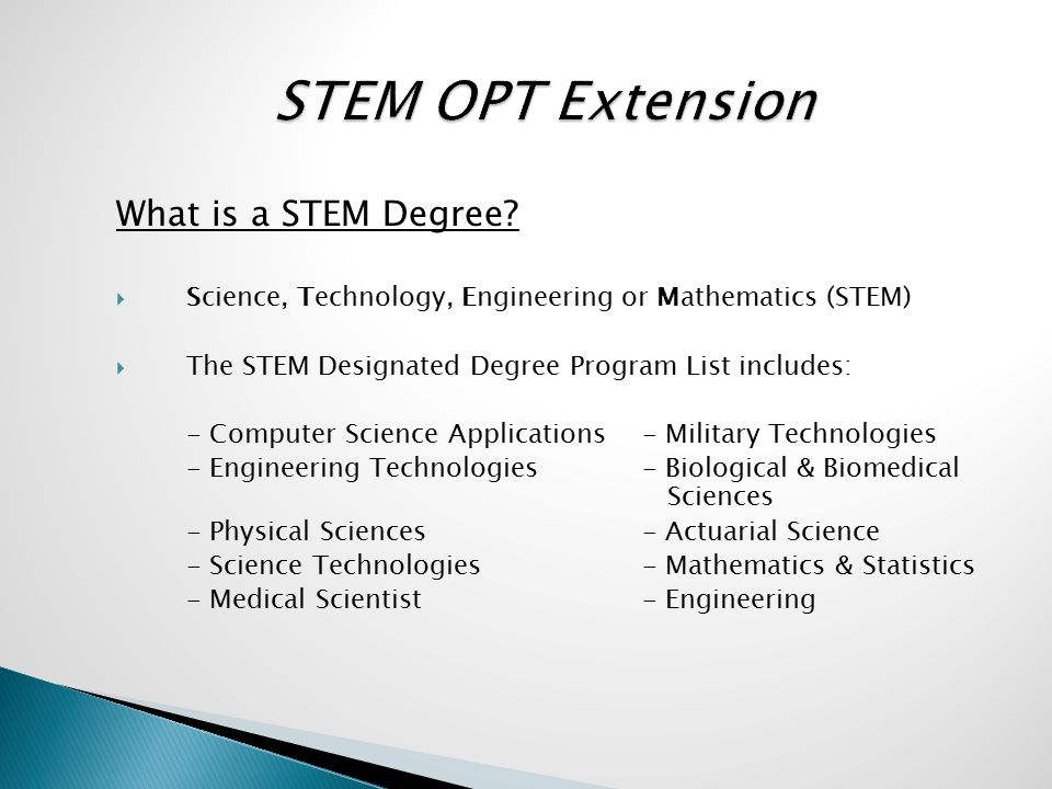 What is a STEM Degree.