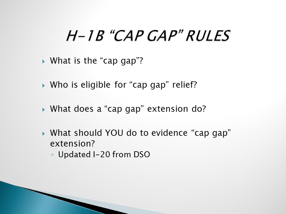  What is the cap gap .  Who is eligible for cap gap relief.