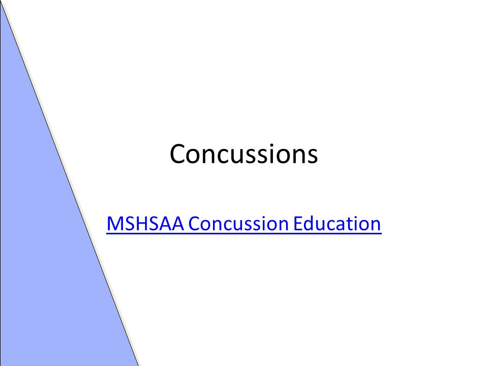 Concussions MSHSAA Concussion Education