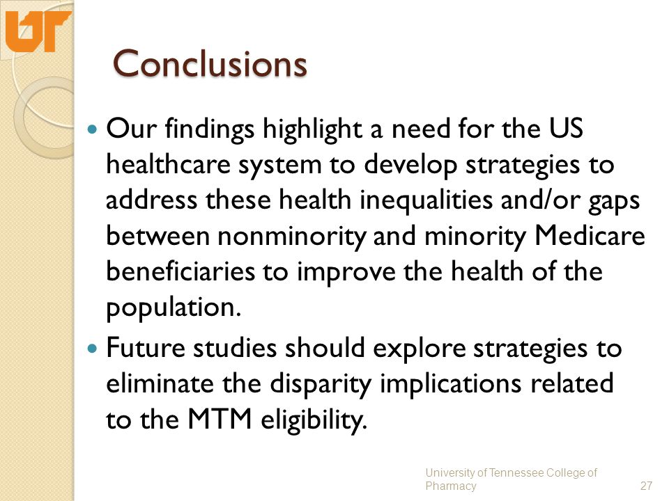 Conclusions Our findings highlight a need for the US healthcare system to develop strategies to address these health inequalities and/or gaps between nonminority and minority Medicare beneficiaries to improve the health of the population.