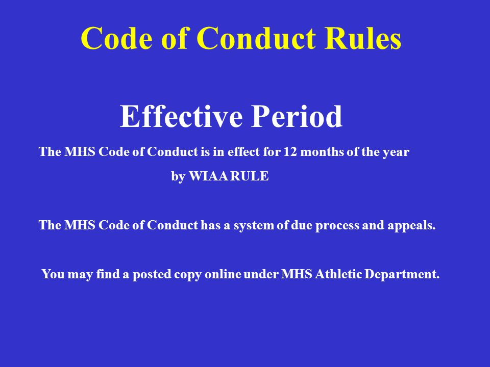 Extra-Curricular Code of Conduct