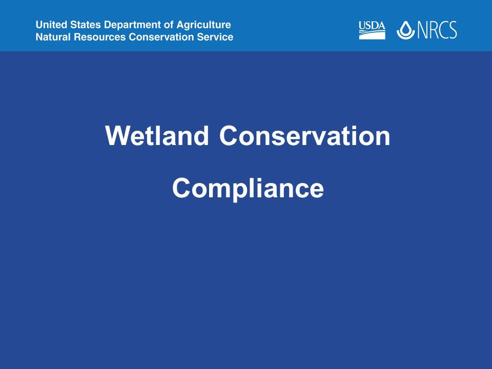 Wetland Conservation Compliance