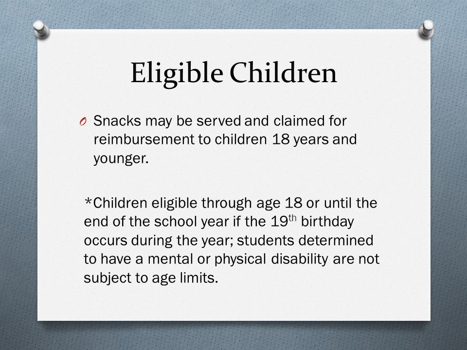Determining Area Eligibility Example: Anne Mason Elementary wishes to be approved area eligible for snacks.
