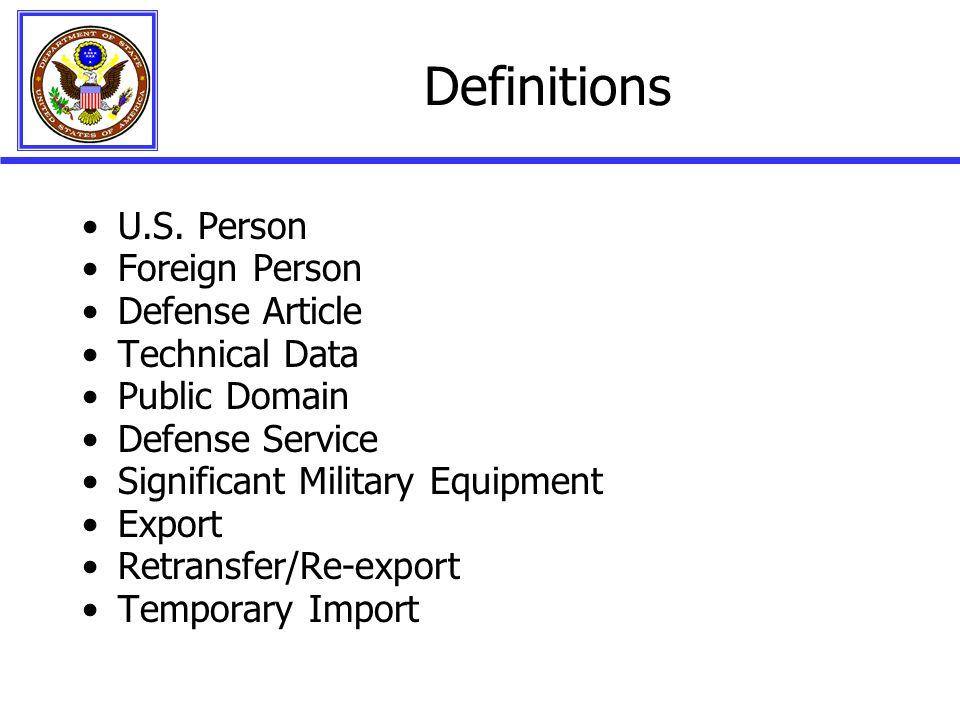 Definitions U.S.