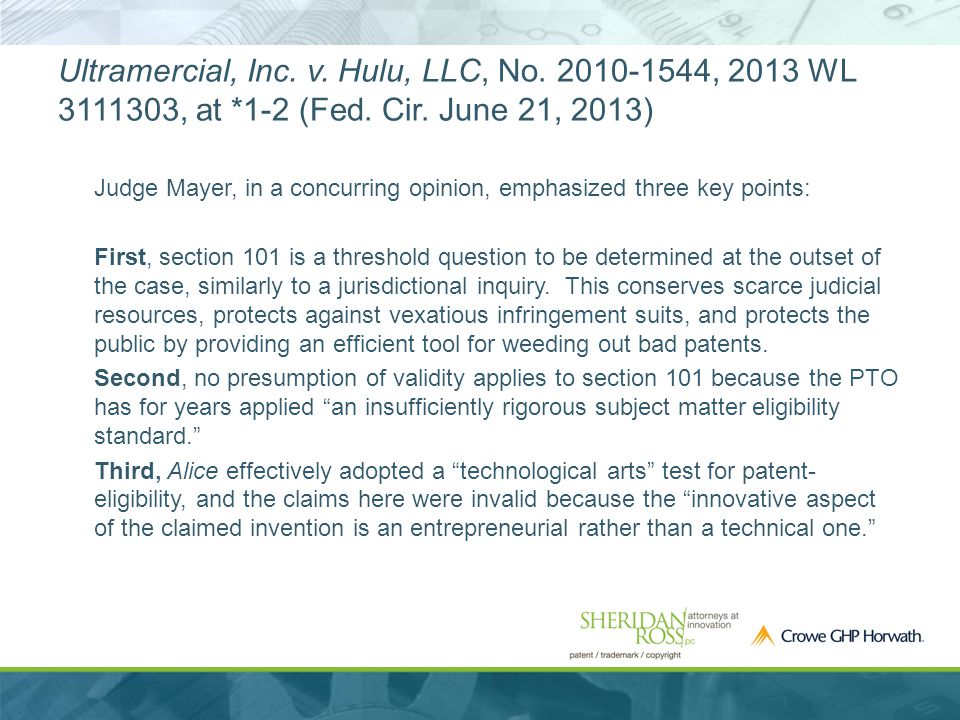 Ultramercial, Inc. v. Hulu, LLC, No. 2010-1544, 2013 WL 3111303, at *1-2 (Fed.