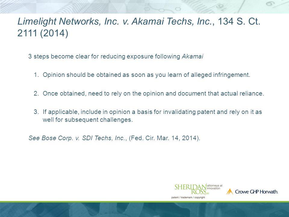 Limelight Networks, Inc. v. Akamai Techs, Inc., 134 S.