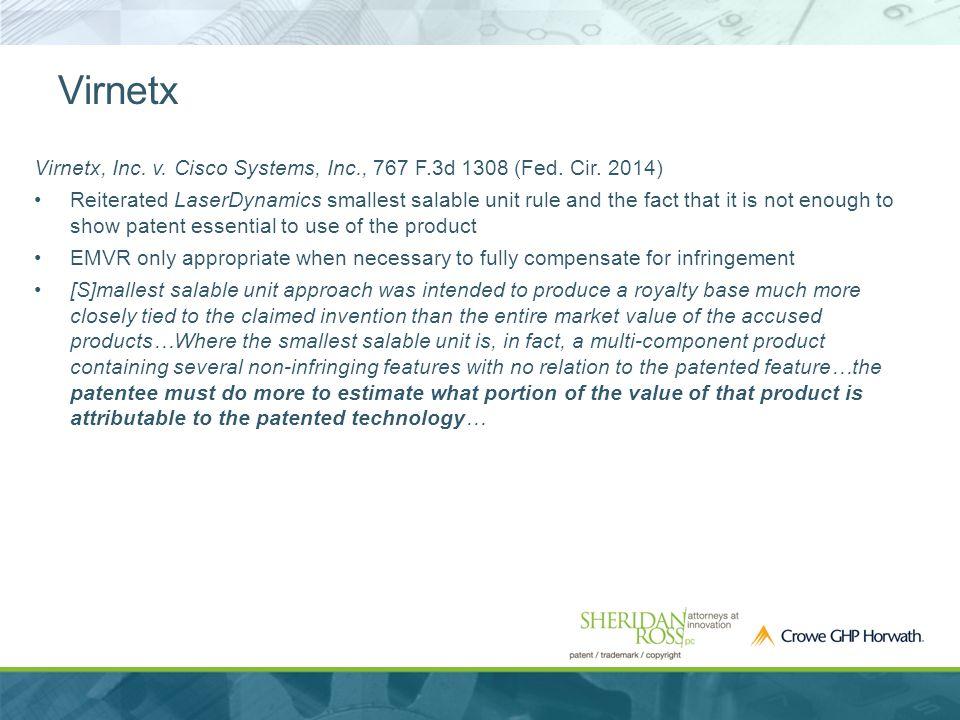 Virnetx Virnetx, Inc. v. Cisco Systems, Inc., 767 F.3d 1308 (Fed.