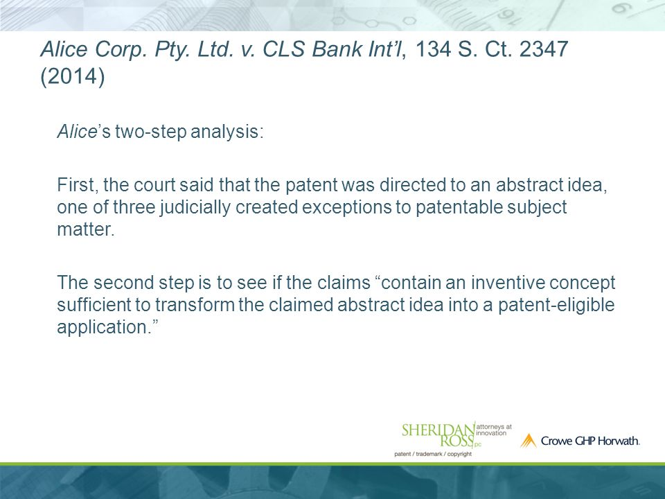 Alice Corp. Pty. Ltd. v. CLS Bank Int'l, 134 S.