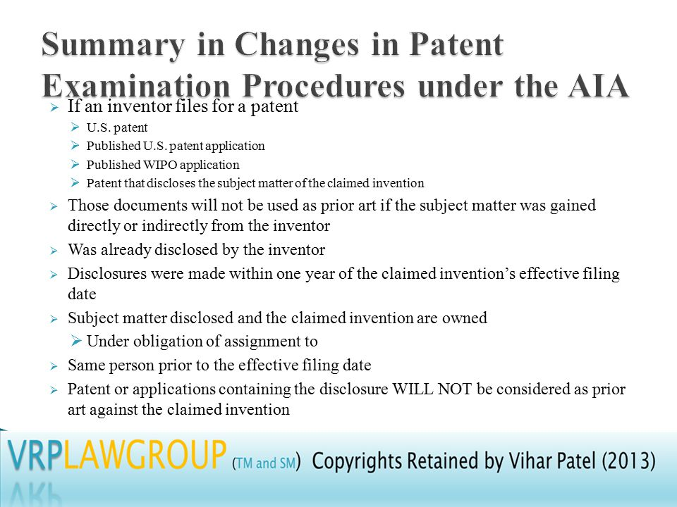  If an inventor files for a patent  U.S. patent  Published U.S.