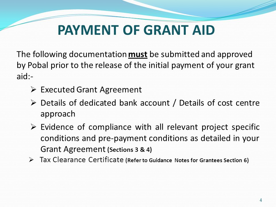 ADVANCE PAYMENT  Advance Payments are considered on a case by case basis.