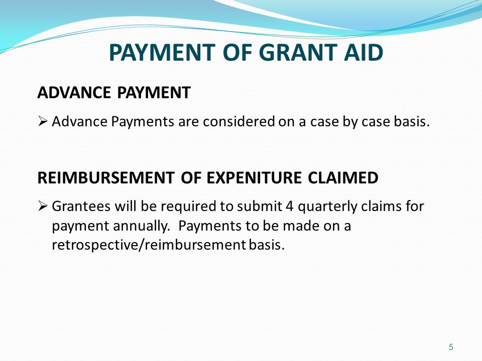 6 CLAIMS PROCESS  Completed claims comprise:-  Signed Declaration by Grantee (Template included in pack)  Expenditure Report (Template included in pack)  Progress Report (Template included in pack)  All relevant original supporting documentation e.g.