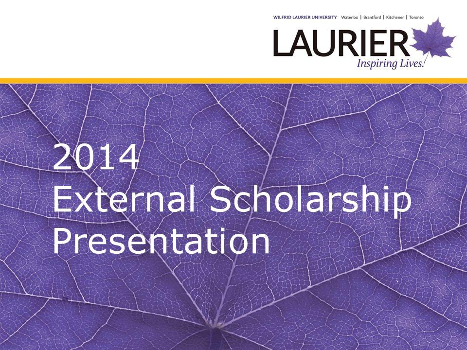 2014 External Scholarship Presentation