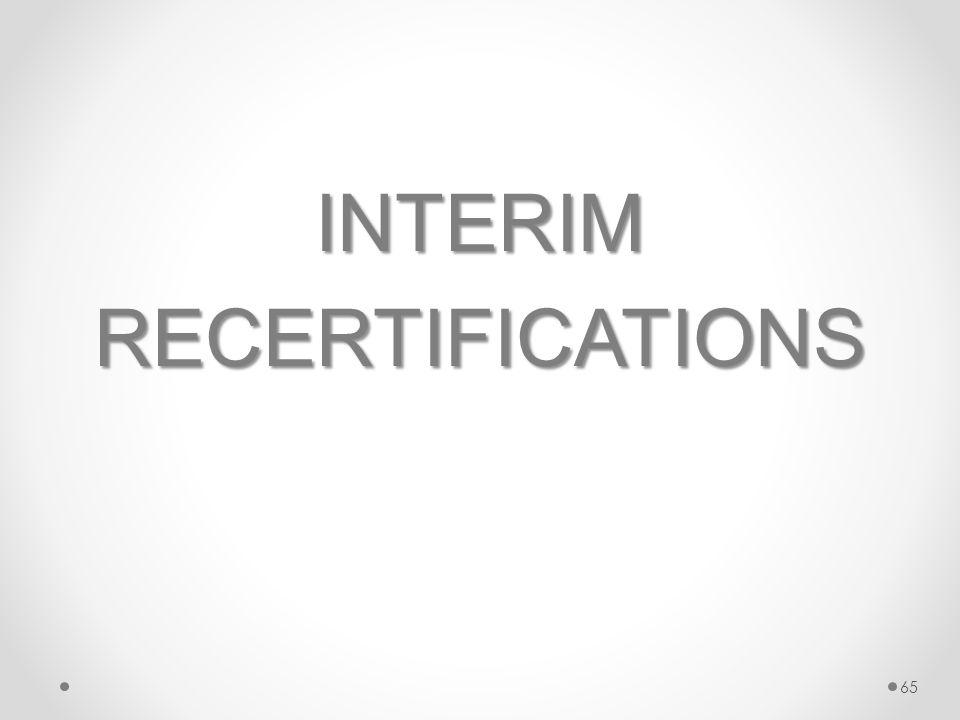 INTERIMRECERTIFICATIONS 65