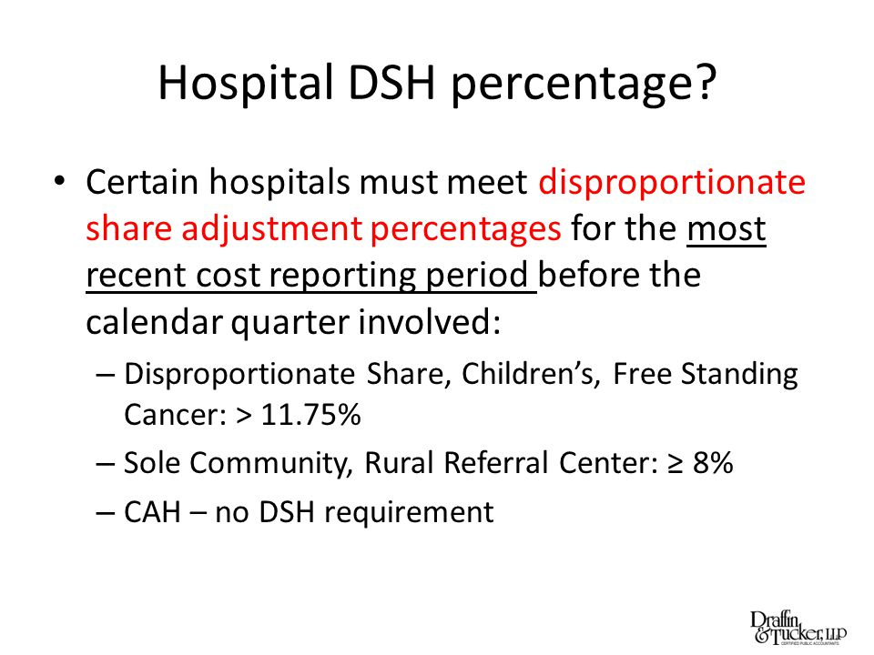 Hospital DSH percentage.