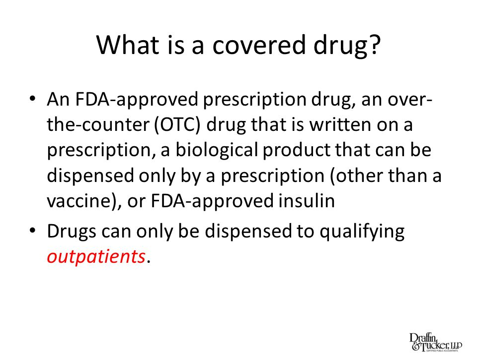 What is a covered drug.