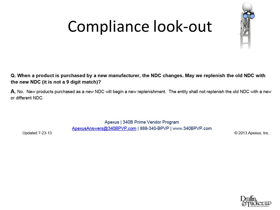 Compliance look-out