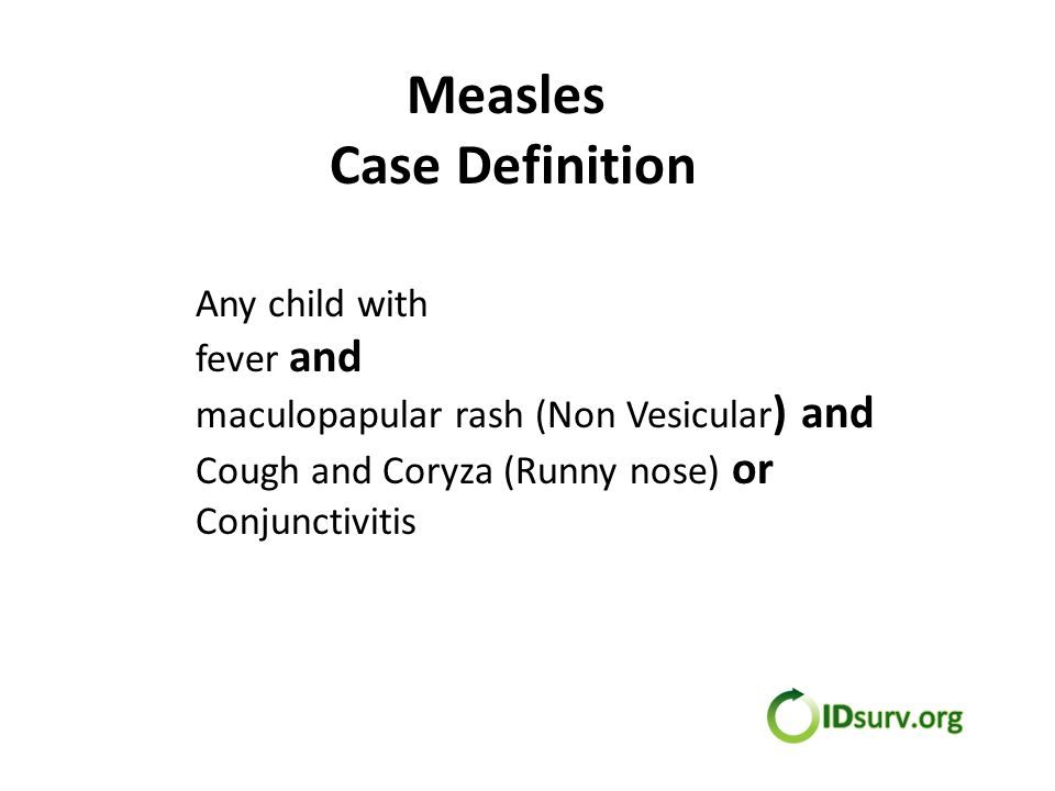 Measles Vaccination Status Fully Immunized – Received 2 doses of MCV Partially Immunized – Received only 1 dose of MCV Not Immunized – Not received any MCV Not eligible for vaccine – Less than 9 months of age