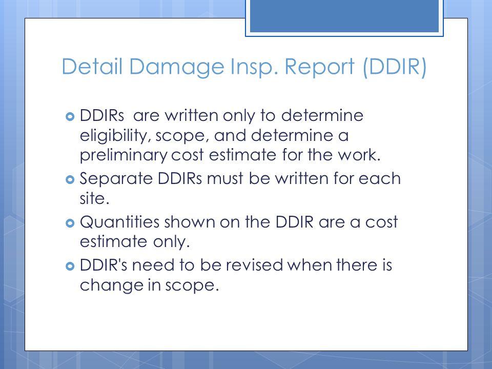 Detail Damage Insp.
