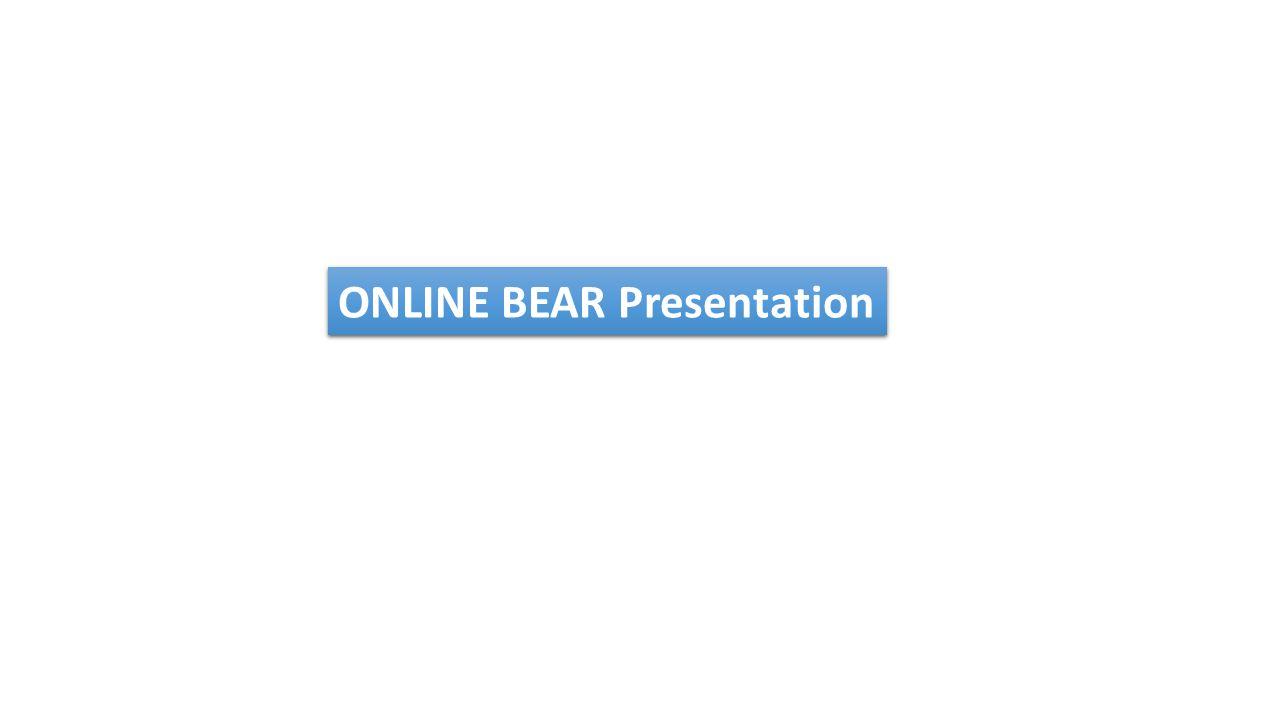 ONLINE BEAR Presentation