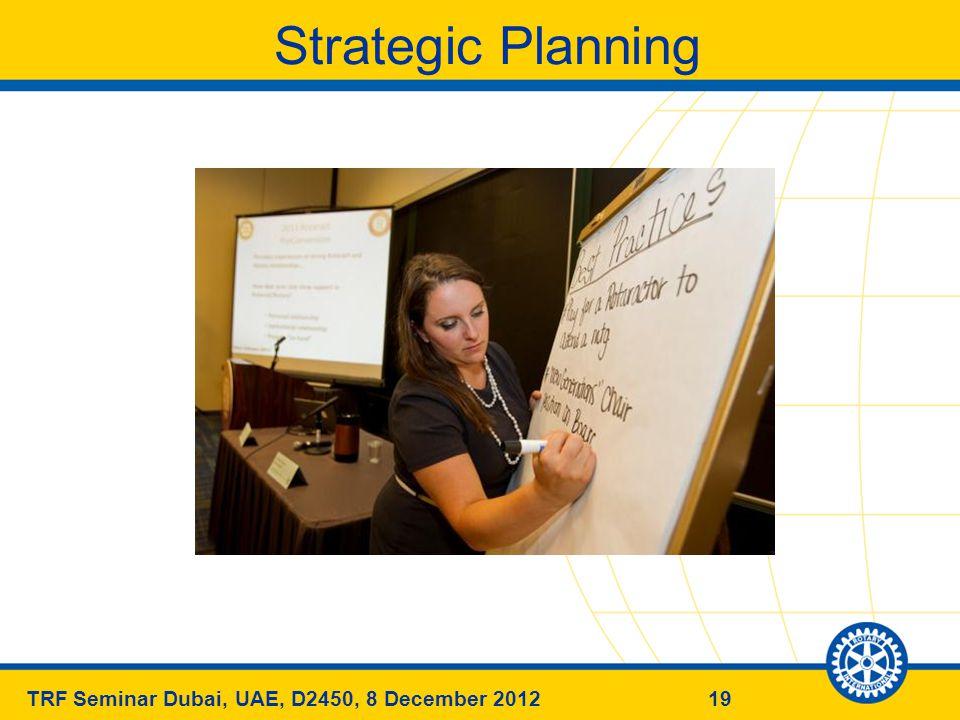 19TRF Seminar Dubai, UAE, D2450, 8 December 2012 Strategic Planning