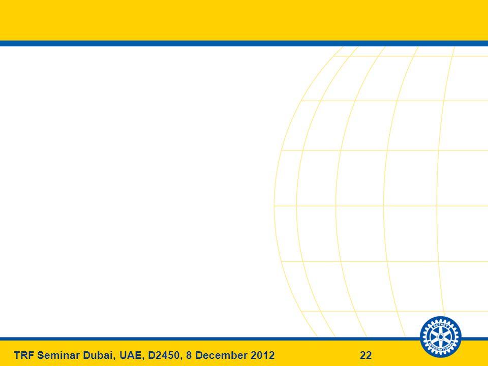 22TRF Seminar Dubai, UAE, D2450, 8 December 2012