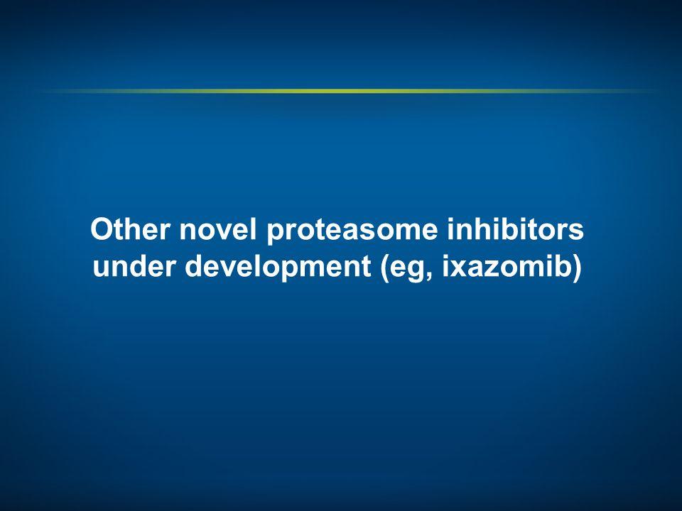 Other novel proteasome inhibitors under development (eg, ixazomib)