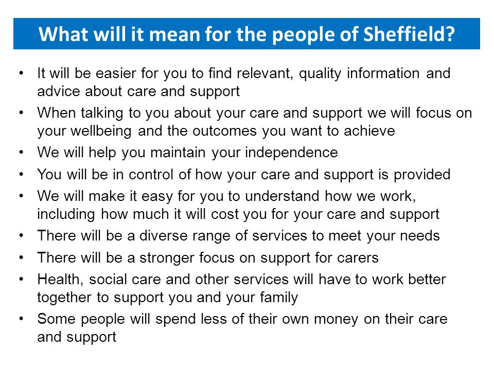 What will it mean for the people of Sheffield.
