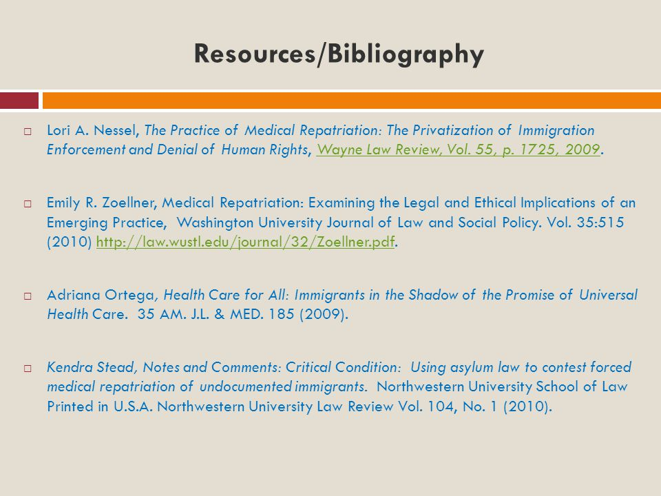Resources/Bibliography  Lori A.