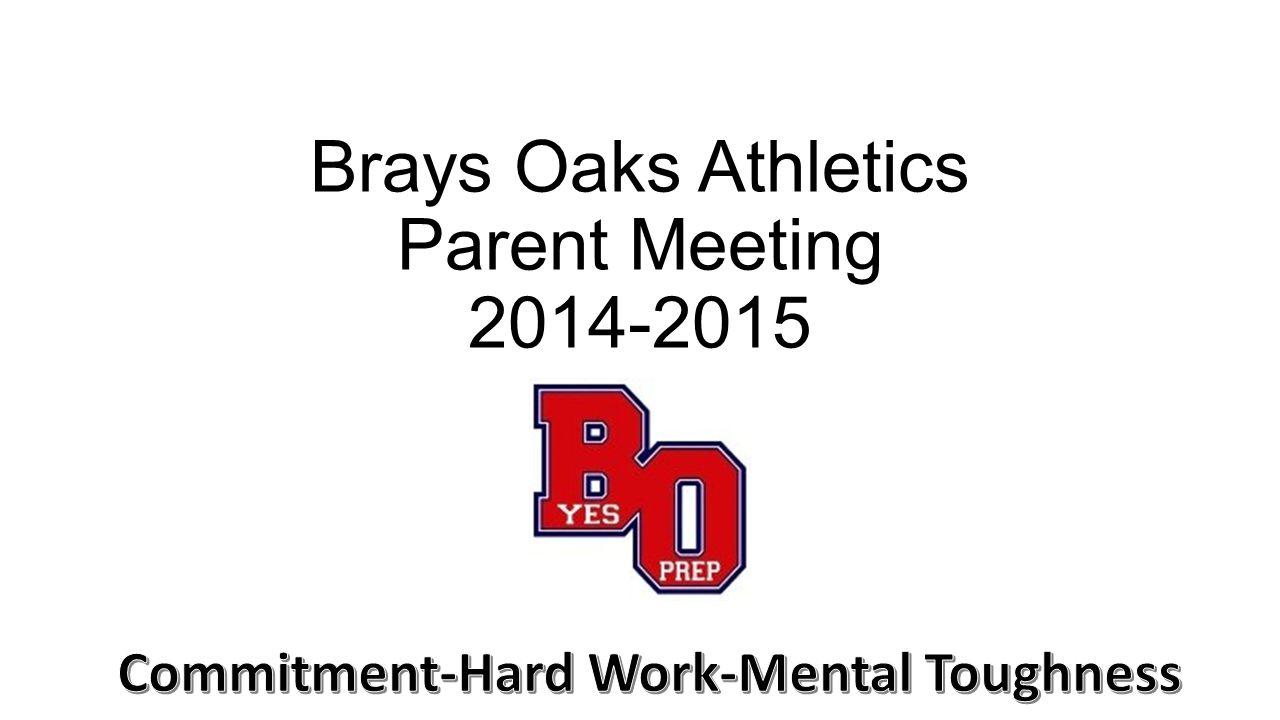 Brays Oaks Athletics Parent Meeting 2014-2015