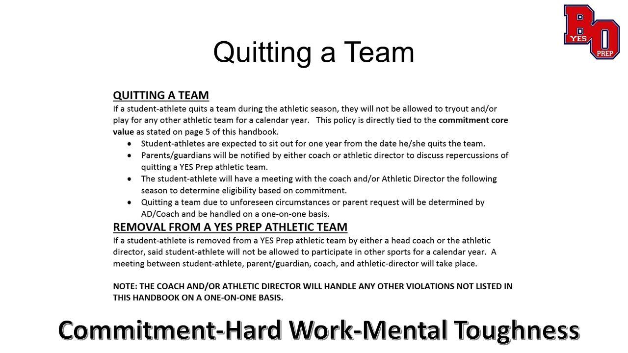 Quitting a Team